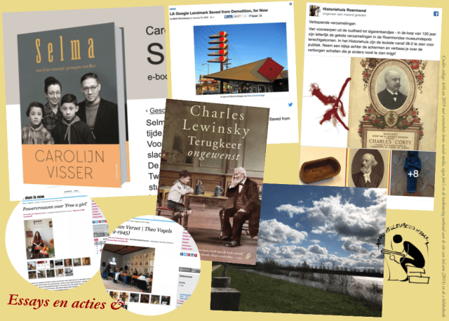 Collage van essays en acties & vanaf 2014. bvhh.nu 2019.