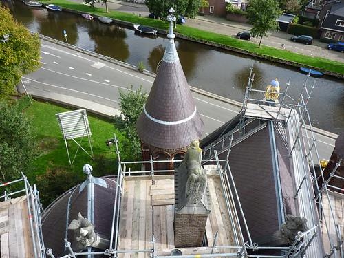 De Mariakapel van de nieuwe Bavo bezien vanaf de steigers