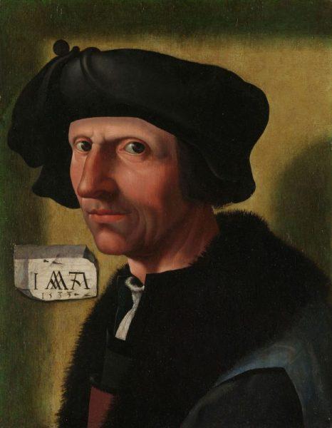 De genade voorbij | Portret van Jacob Corneliszoon van Oostsanen(c. 1472/77-1528/33), door zijn atelier in Amsterdam, c. 1533. Herkomst Rijksmuseum, objectnumber SK-A-1405.