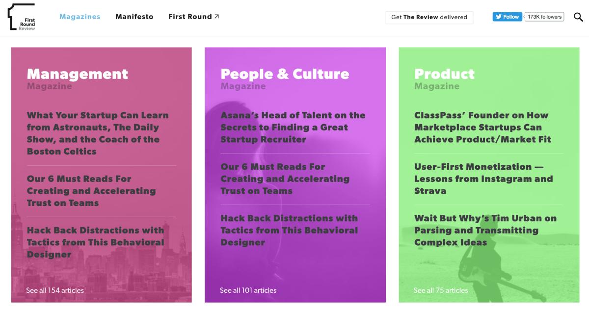 first round magazine content marketing