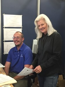 Fabrication Supervisor Josh Anderson and Business Manager Jo Dresh