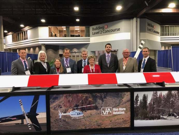 VHA booth and crew at Heli-Expo 2019