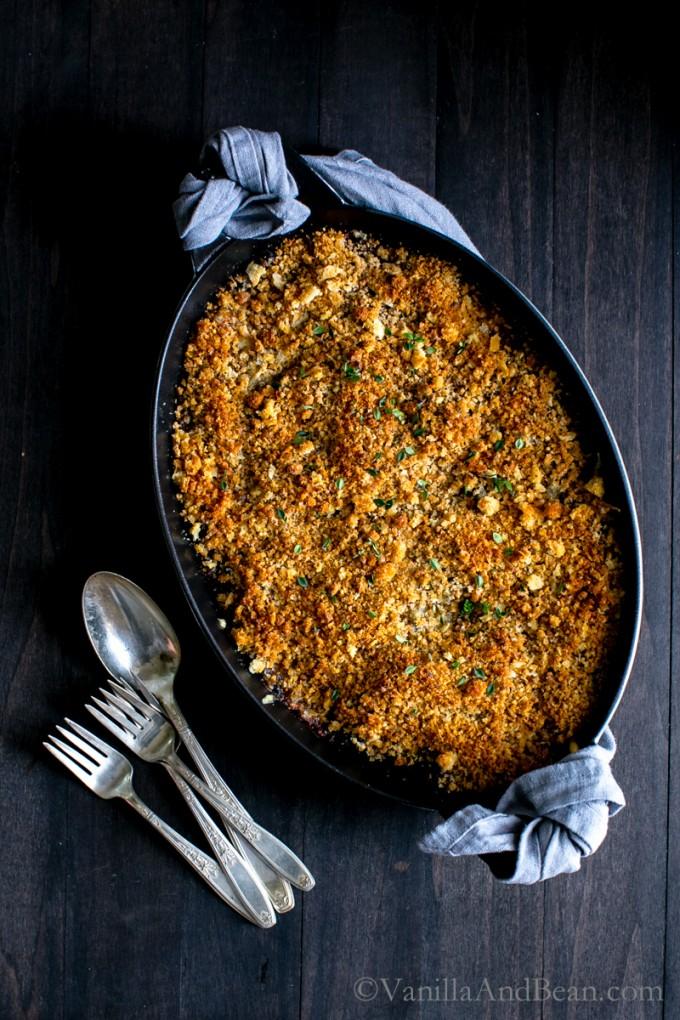Porcini Mushroom, Greens, and Forbidden Rice Gratin | Vanilla And Bean