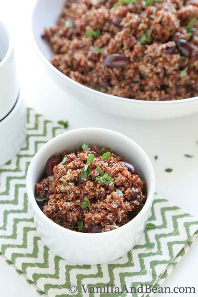 Roasted Eggplant and Quinoa Salad