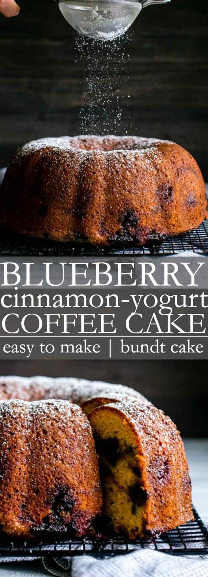 Blueberry Cinnamon Yogurt Coffee Cake