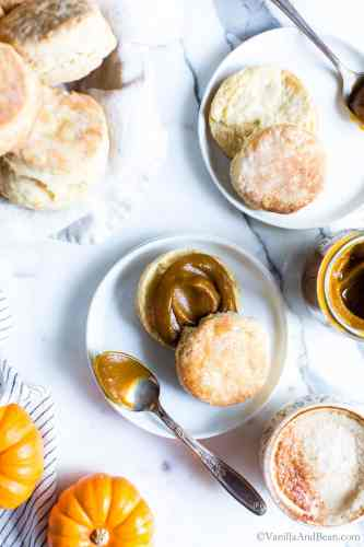 Sourdough Biscuits with Pumpkin Butter