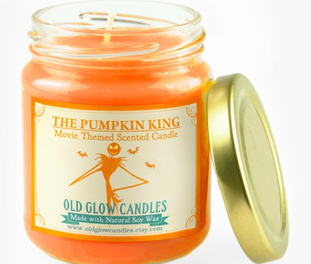 Pumpkin King Natural Scented Candle Nightmare Before Christmas Inspired Halloween Candle