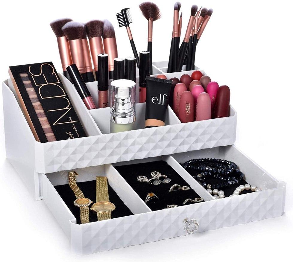 rangement maquillage amazon