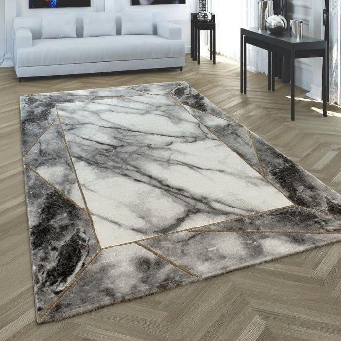 tapis effet marbre