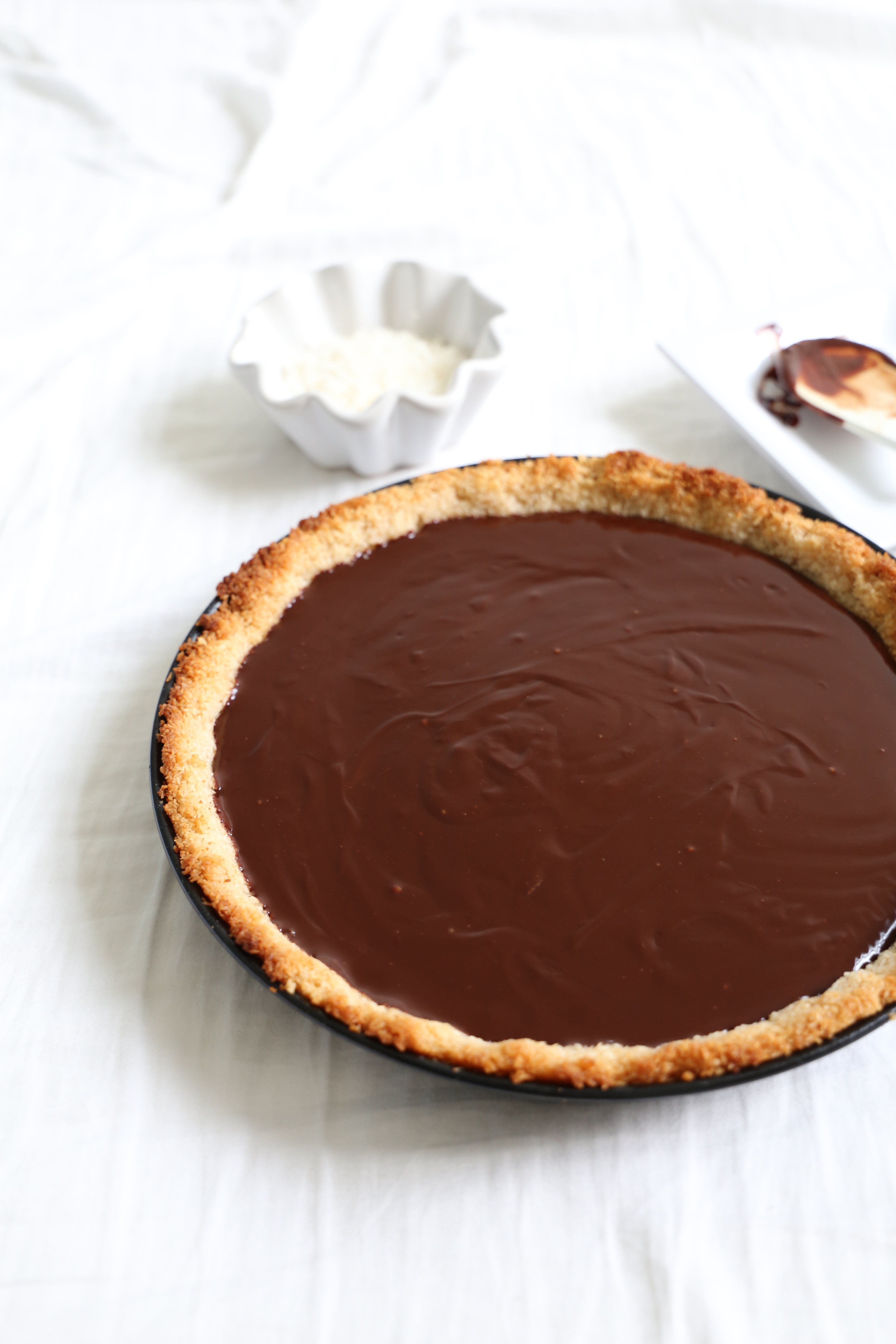 Vegan Chocolate Ganache Pie