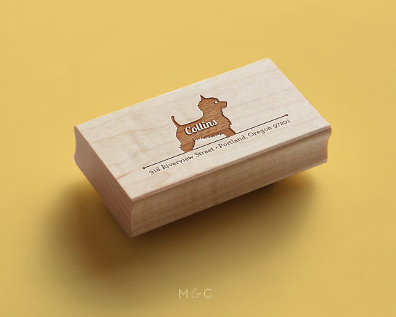Custom Pet Products - Maple + Cotton Westie Stamp