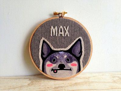 HitherRabbit Pet Portrait Embroidery Hoop