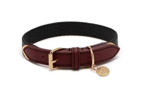 Mulberry Pheasant Bovine Leather Dog Collar