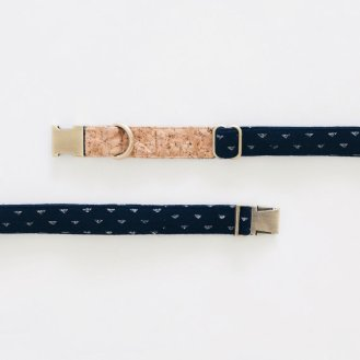 Ohpopdog Basic Leash Indigo Denim Corkboard Mix