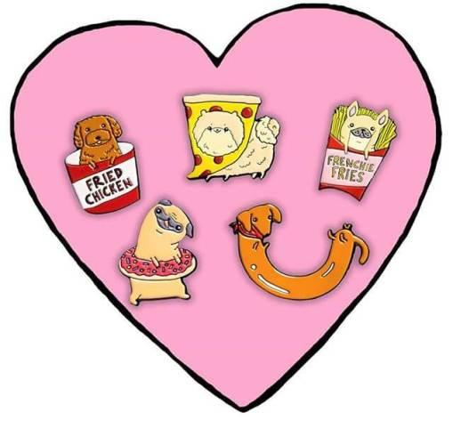 PinstaPals Dog Breed and Food Pins