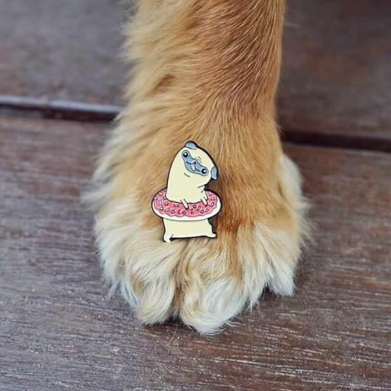 PinstaPals Pugnut Pin
