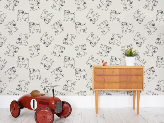 Murals Wallpaper Pug Wallpaper   Vanillapup