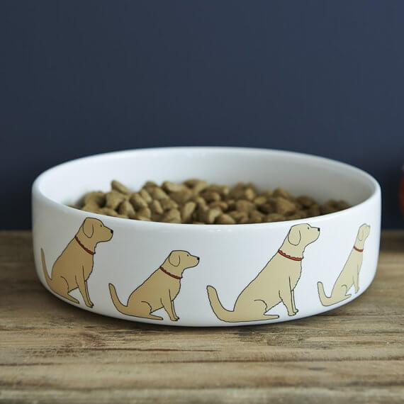 Sweet William London Golden Retriever Dog Bowl