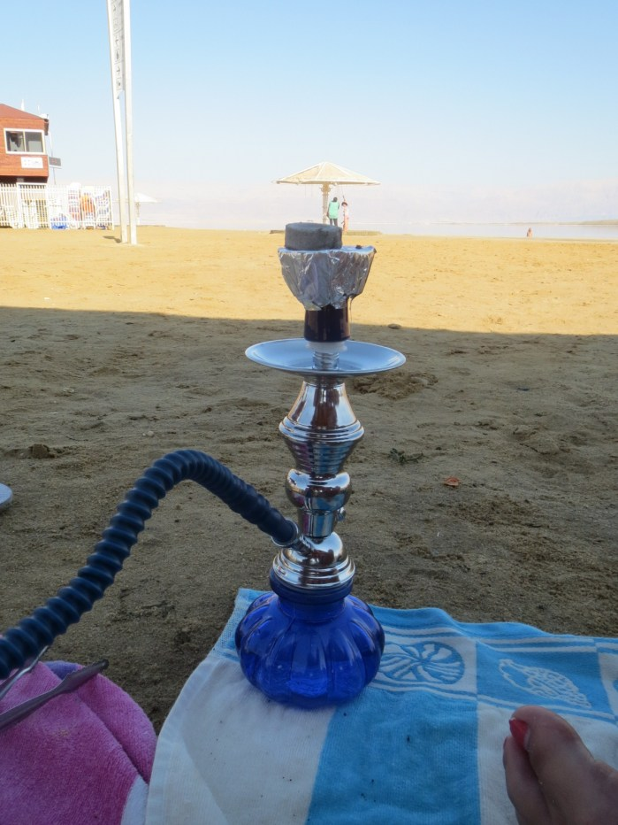 hookah at the dead sea