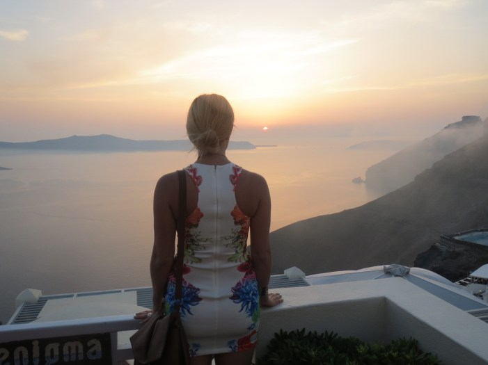 the view of santorini sunset -- hofit kim cohen