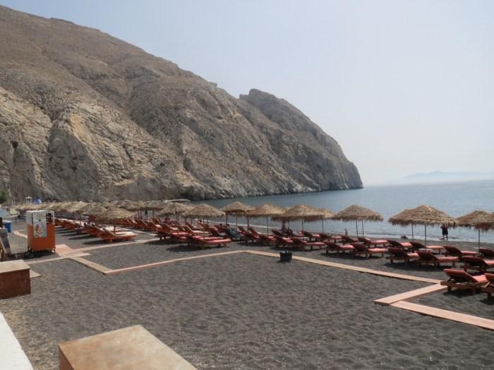 black beach in santorini greece