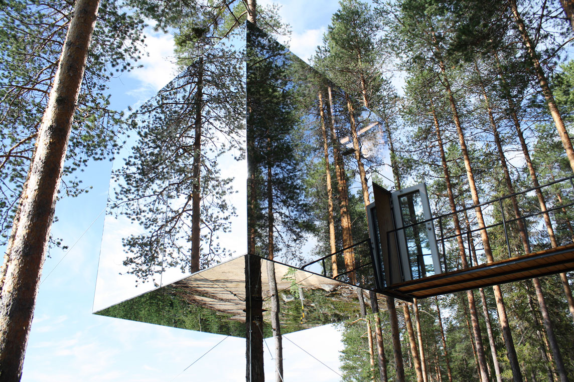 The Mirrorcube Tree Hotel (Harads, Sweden)