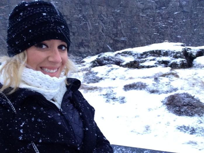 hofit kim cohen in iceland snow storm