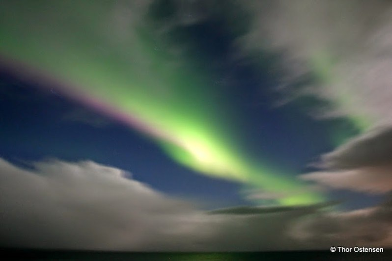 The Northern Lights - Iceland green and pink magic light