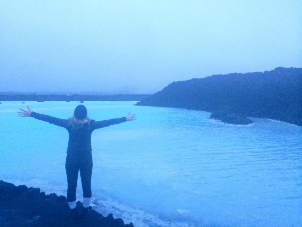 iceland blue lagoon at night hofit kim cohen