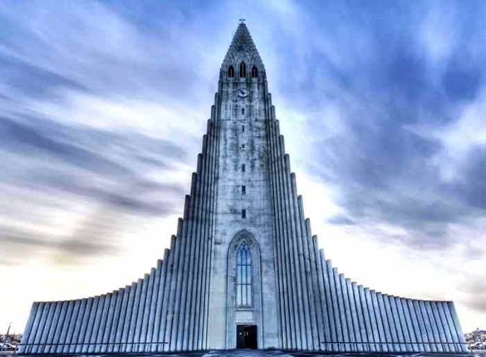 Church Of Reykjavik Iceland