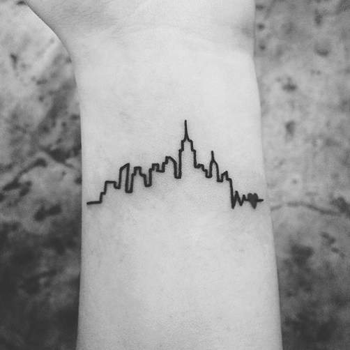 cityscape travel tattoos