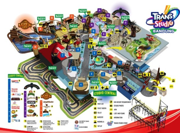map Trans Studio Bandung Amusement Park