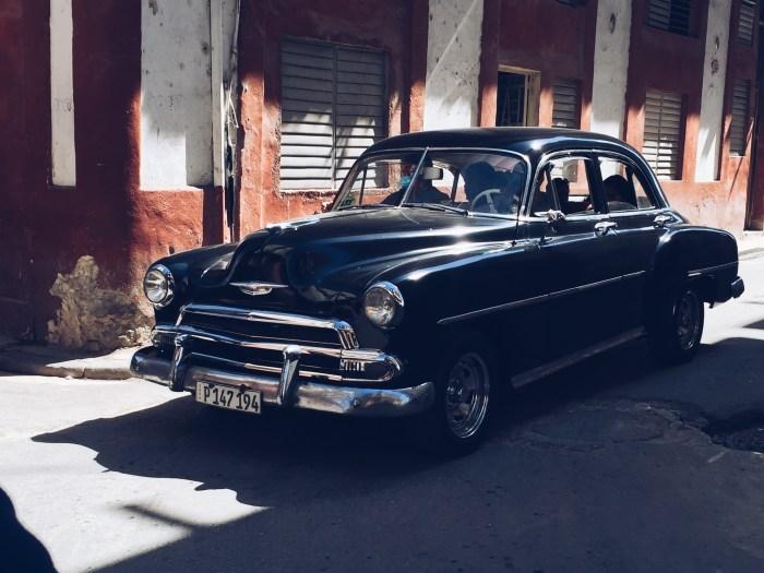 Vintage Black Car - Havana, Cuba