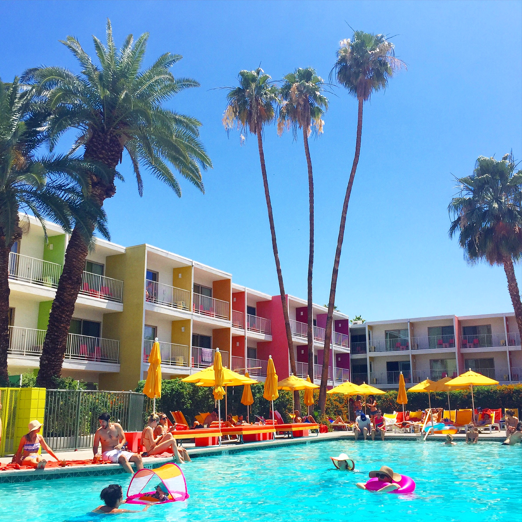 If Youu0027re Looking For The Rainbow, You Definitely Found It At Saguaro Palm  Springs! This Hotel Is The Brightest And Most Colorful Hotel In All Of Palm  ...