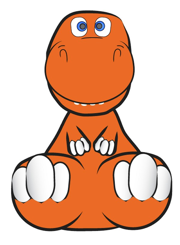 How to Create a Cute and Cuddly Vector Dinosaur Character in Illustrator