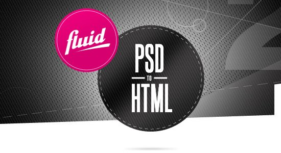 PSD to HTML by Fluid