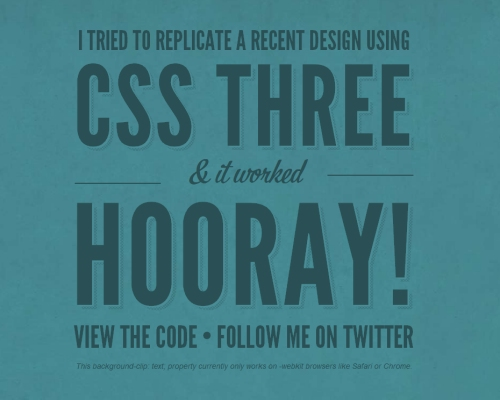 CSS3 Background-Clip & @Font-Face