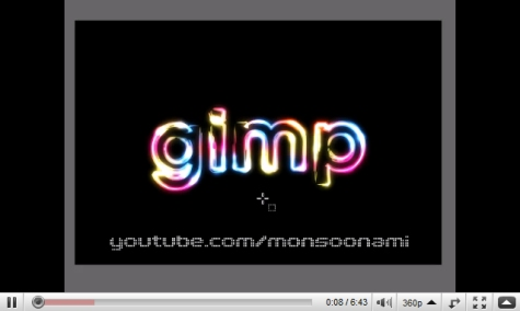 Super Glowy Rainbow Text Effect