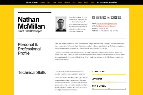 html templates to help you land a job