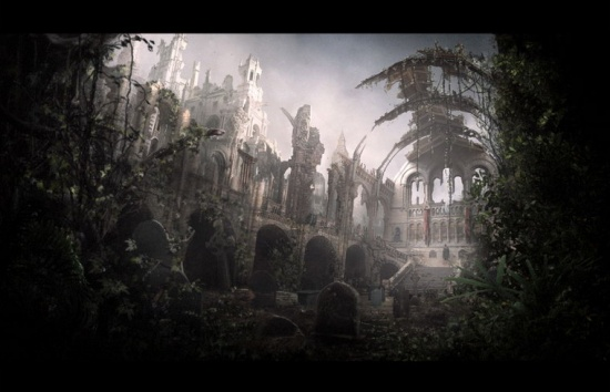 London National History Museum Matte Painting