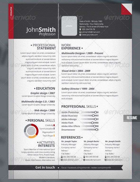 9 helpful resume design tutorials to learn design bump clean and
