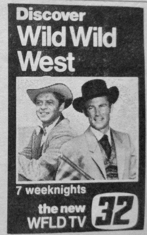 wild wild west tv ad 12:9:1973