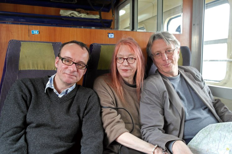On the train to Suceava - Achim, Petra and me