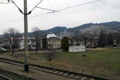 On the train to Suceava - view from the window