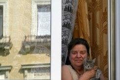 Czernowitz/Chernivtsi - a lady with a cat
