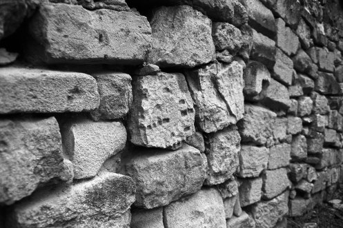 Chişinău Jewish cemetery - wall made of tombstones