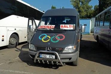 Our marshrutka from Chernivtsi (Czernoeitz) to Chişinău (Chisinau)
