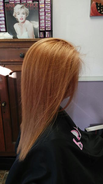 Apricot Blond with Keratherapy