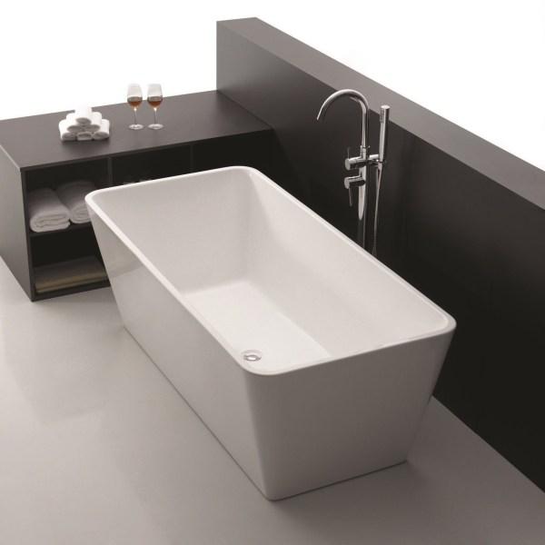 ELOUERA Square Freestanding Lucite Acrylic Bath Tub