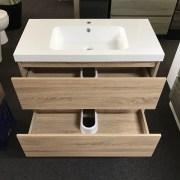 BOGETTA 900mm White Oak | Vanity with Polymarble Top